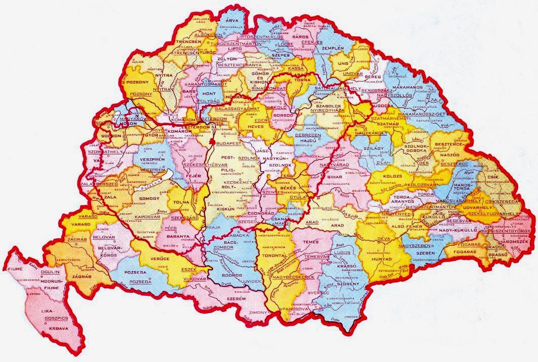 történelmi magyarország térkép Magyarország látnivalói tájai történelmi magyarország térkép